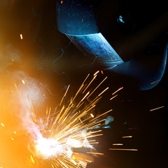 Welders in action