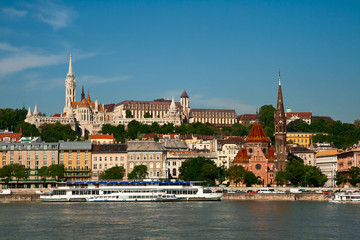 Budapest, view of the Buda castle