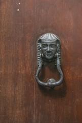 Italian door knocker: head of ancient Egyptian