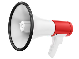 render of a megaphone, isolated on white