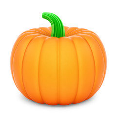 render of a pumpkin, isolated on white
