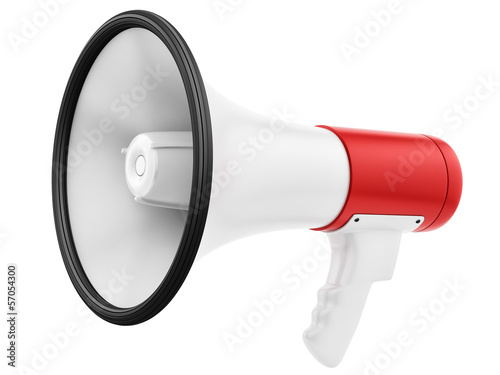 render of a megaphone, isolated on white - 57054300