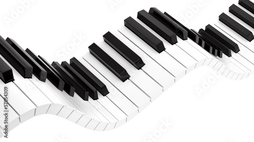 render of wavy piano keyboard - 57054309