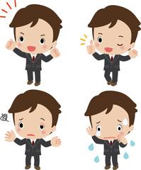 若いビジネスマンの表情