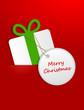 Geschenk mit Schild merry christmas