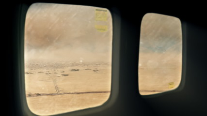 Missile attack on convoy helicopter view