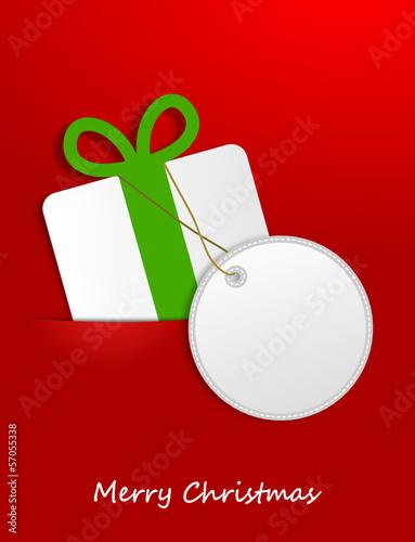 Geschenk Schild Weihnachten