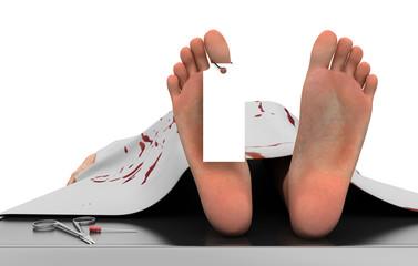 Cadavere salma obitorio, morto, omicidio, killer