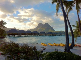 Sunrise in Bora Bora