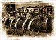 Old retro bikes.
