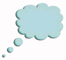 blue speech cloud