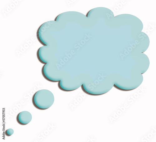 blue speech cloud