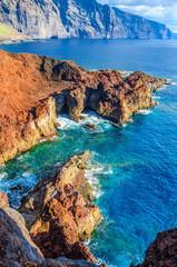 Rocks on North-west coast of Tenerife near Punto Teno Lighthouse