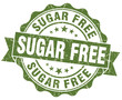 sugar free green grunge scratched vintage stamp