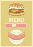 Retro menu set