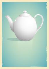 Teapot in retro style