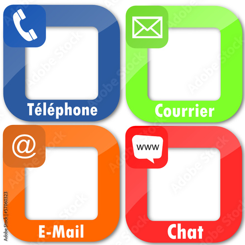 4 icones : contact