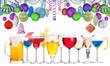 christmas alcohol drinks set