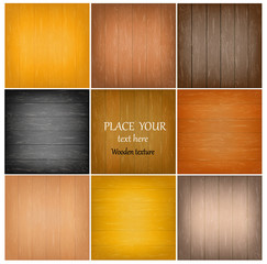 Set colorful abstract wooden texture.Vector illustration