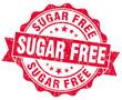 sugar free red grunge stampon white background