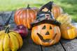 Herbst-und Halloweendekoration
