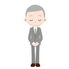 スーツを着た男性 社長 謝罪