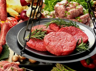 hamburger su bilancia, dettaglio