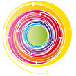 Bunter Energiewirbel - Logo