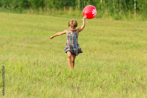 The girl with ball in hands