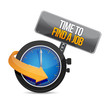 time to find a job watch illustration design