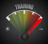 training level measure meter from low to high
