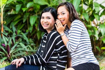Two Asian girlfriends