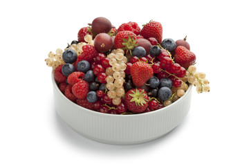 Bowl with summer fruit
