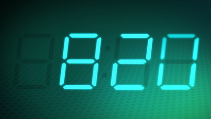Accelerated 24 hours digital clock + alpha channel.