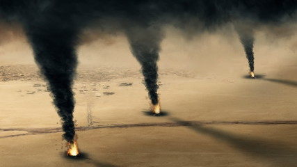 Kuwaiti oil well fire  - loop