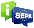 "Speechbubbles ""SEPA/Information"" Green/Blue"