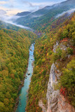 Tara canyon in autumn ambience poster