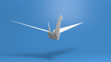 white paper bird with alpha channel