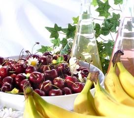 ciliege e banane