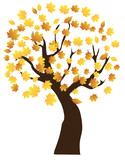 vector fall tree