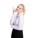 junge Geschäftsfrau hat einen Einfall