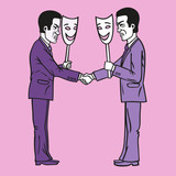Business etiquette forbids show negative emotions.