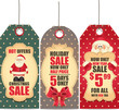 New Year and Christmas sale labels