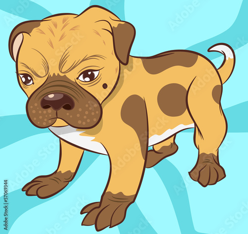 Little Dog illustration vector
