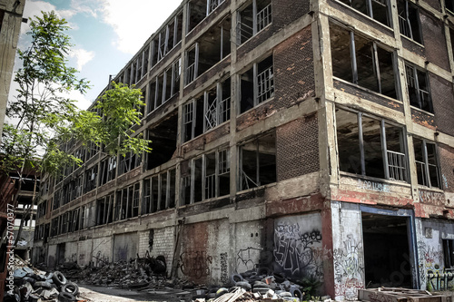 canvas print picture Abandoned Packard Factory 18