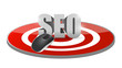 seo mouse target illustration design
