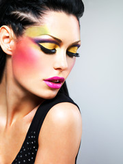 Beauty  woman with fashion makeup on  face