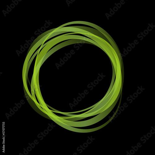 Fototapeta Vector Green Rings Background