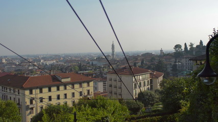 Bergamo city from the Cable car