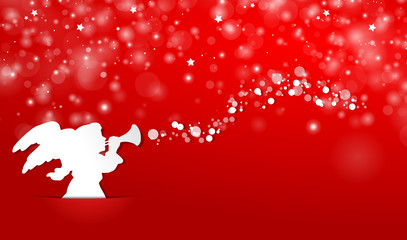 Weihnachtsengel mit Trompete